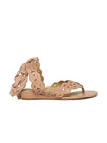 8fbbf3be39d Estatos Leather Beige Colour Wrap Around Strap Open Toe Casual Flat Sandals