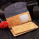 Suede Envelope Wallet
