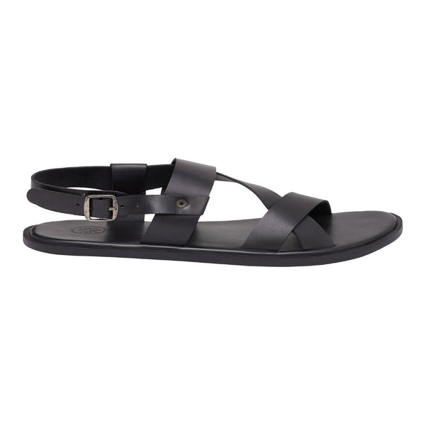 Florence Matte Black Men's Strappy Sandals