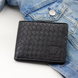 Men's Woven Black Wallet