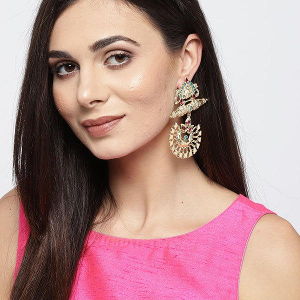 Gold Tone Traditional Earrings