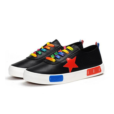 Platform Sneakers For Women For Women : Multicolour on Black