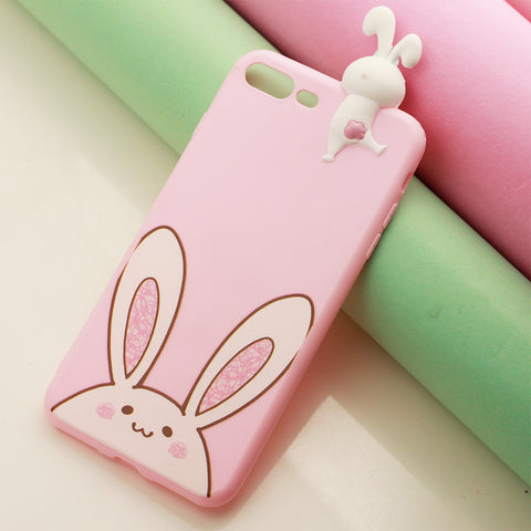 Pink Printed Cute Animal iPhone Cover