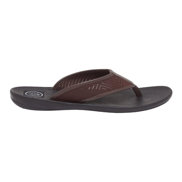La Black-Brown Men's Leather Slippers