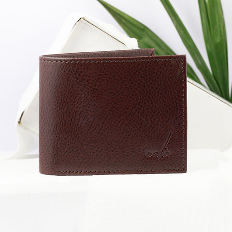 Men's Two Fold Brown Wallet
