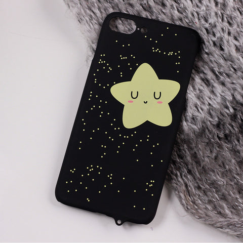 Smiley Black Matte Hard Design Pattern iPhone Cover