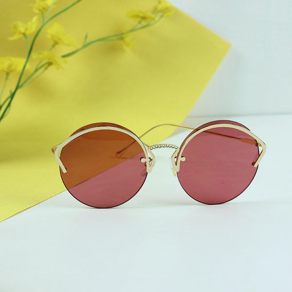 Crystal Bridge Round Sunglasses