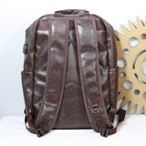 Oversized Pocket Unisex Brown Backpack
