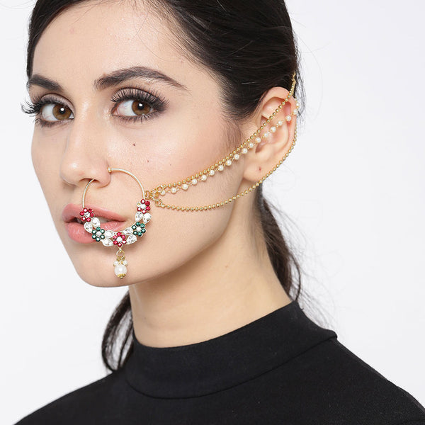 Multicolor Three Layer Nose pin