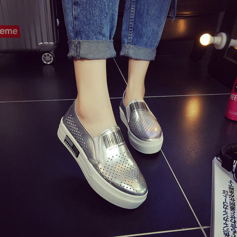 Fashion Sneakers: Silver & White