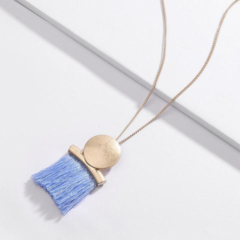 Gold-Tone Long Thread Necklace