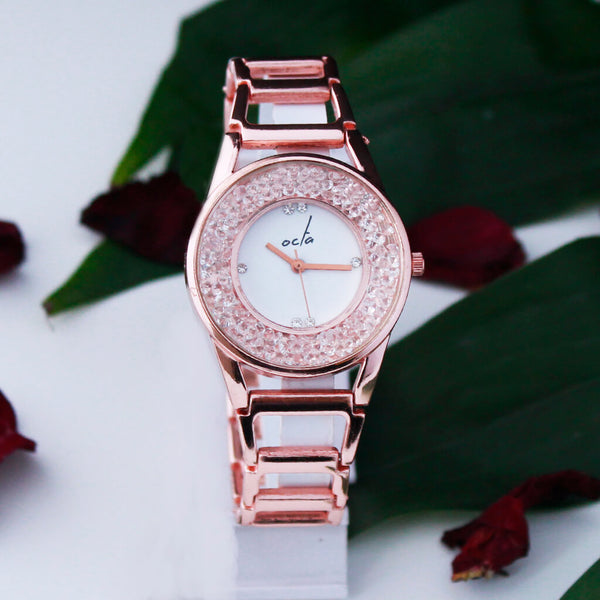 Crystal Dial Women's Wrist Watch