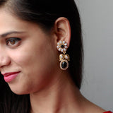 Gold Plated Pearl & Gemstone Earrings
