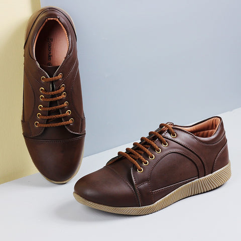Couch Potato Multi Panelled Sneakers : Brown
