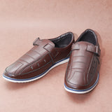 Stitch Detail Casual Brown Roman Shoes