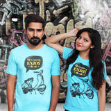 T-Shirt Combo For Couple: Journey of Life (Blue)