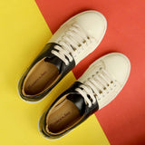 Trendy Lace Up Sneakers Color Blocked