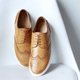 Contrast Sole Semi-Formal Brogue Shoes