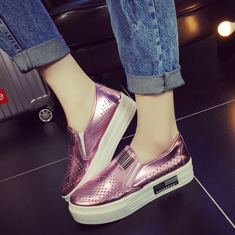 Fashion Sneakers: Metallic Pink & White