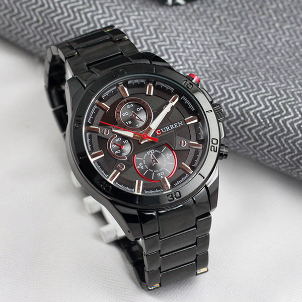 Curren Black Steel Men's Analogue Watch