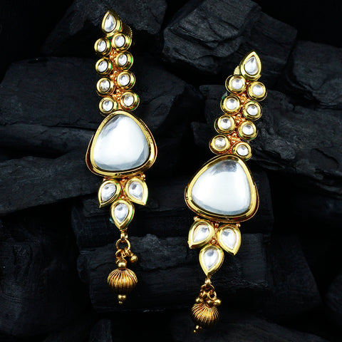 Gold Kundan Earrings