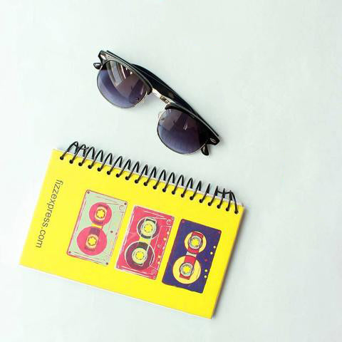 Horn Rimmed Sunsnapper (Dark Grey) , Retro Wire Bound Notepad