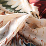 Off white printed Silk Scarf