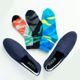 Slip On Sneakers (Blue) and Pack of 3 Socks for Men