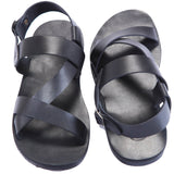 Florence Black Men's Strappy Sandals