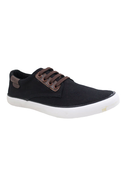Rexona Black Tan Hexa Lace Up Sneakers