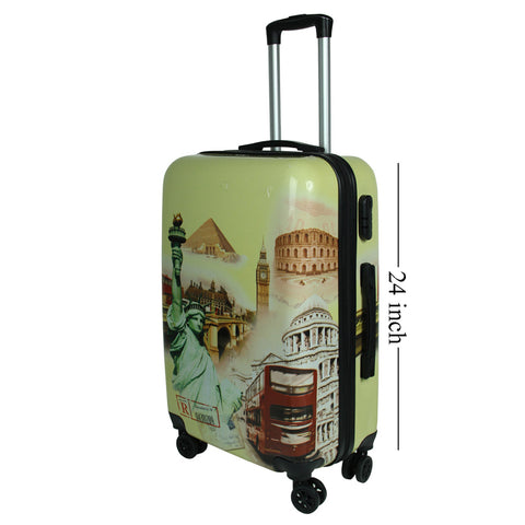 Hard Case Printed Trolley Bag