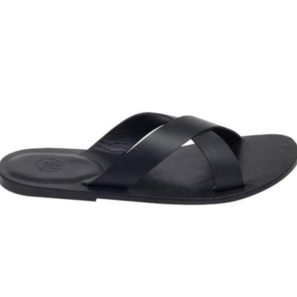 Tuscany Black Men's Leather Sandals