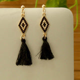 Metal Thread Earrings