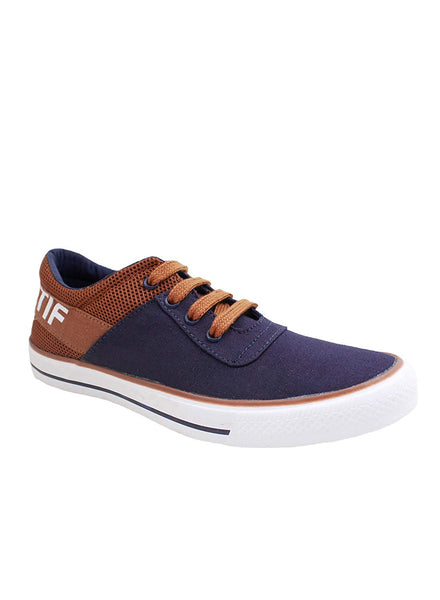 Rexona Navy Tan Lace Up Sneakers