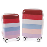 Hard Case Striped Pattern Pack of 2 Trolley Bag