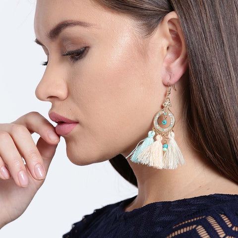 Multicolor Tassel Drop Earrings