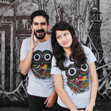 T-Shirt Combo For Couple: Wise Owl (Grey)