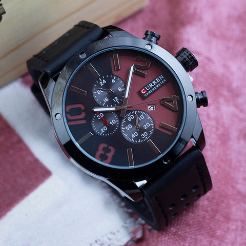 Curren Sporty Dial Men's Wrist Watch