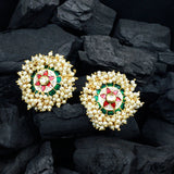 Kundan Stone Stud Earrings