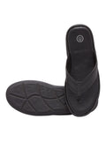 Burma Black Men's Leather Slippers