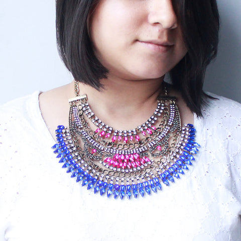 Stone Studded Statement Necklace