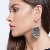 Afghani Tribal Chandbali Hook Earrings