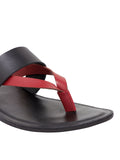 Turin Black-Red Men's Multi-strap Sandals