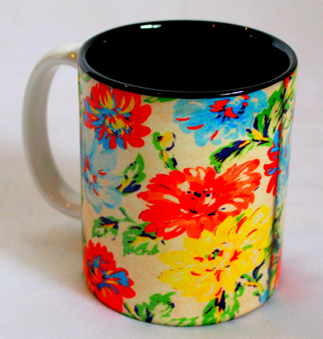 Colorful Floral Print Mug
