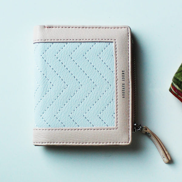 Chevron Stitch Leather Wallet