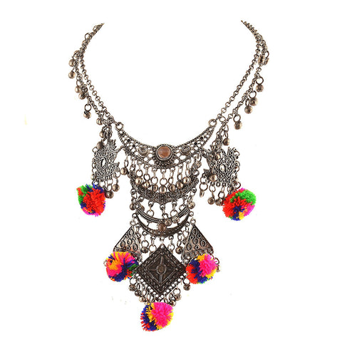 Chica Fashion Jewellery By Fizz : Long Boho Bib Statement Turkish Choker Necklace