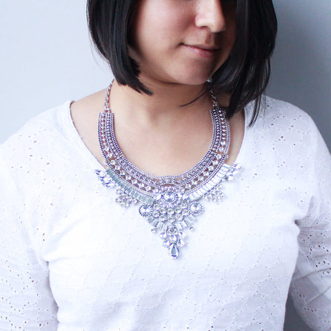 Crystal & Gemstone Statement Necklace