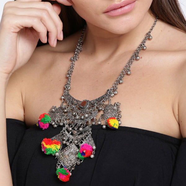Long Boho Bib Statement Turkish Choker Necklace
