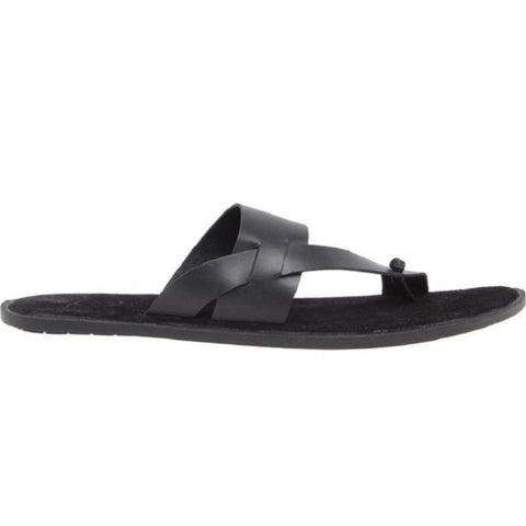 Sardinia Black Suede Men's Sandals