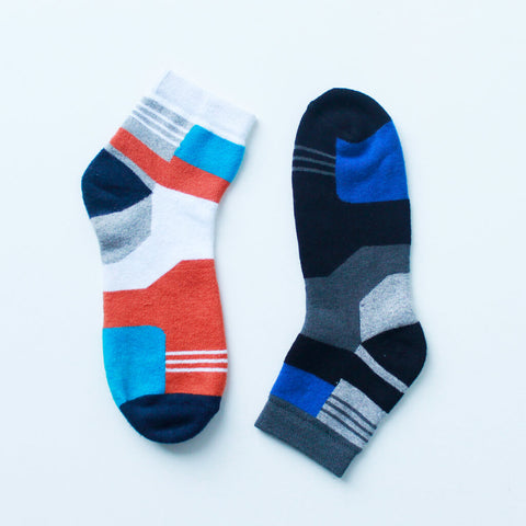 Pack of 2 Socks (Unisex): Multicolored Checks II